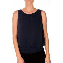 Abbigliamento Donna Top / T-shirt senza maniche Vero Moda BELFAST SL TOP EA navy Blu