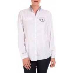 Abbigliamento Donna Polo maniche lunghe Tom Tailor NICE SOLID POLO BLOUSE Blanc Bianco