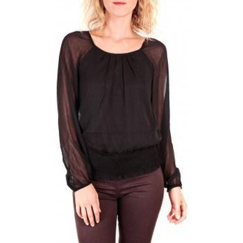 Abbigliamento Donna Top / Blusa Vero Moda Neeba Maria Dicte LS Top Mix EA Nero