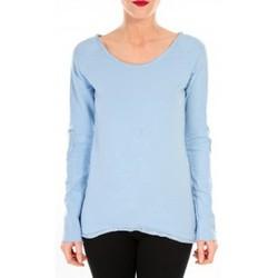 Abbigliamento Donna T-shirts a maniche lunghe By La Vitrine T-shirt Empiècement Pailleté 2119 Bleu Blu