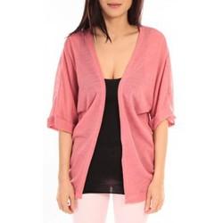 Abbigliamento Donna Gilet / Cardigan Vero Moda MONA 2/4 LONG CARDIGAN 89960 Rose Rosa