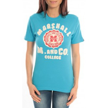 Abbigliamento Donna T-shirt maniche corte Sweet Company T-shirt Marshall Original M and Co 2346 Bleu Blu