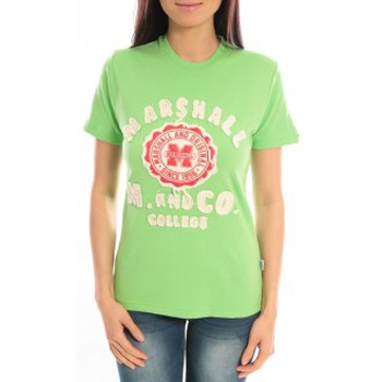 Abbigliamento Donna T-shirt maniche corte Sweet Company T-shirt Marshall Original M and Co 2346 Vert Verde