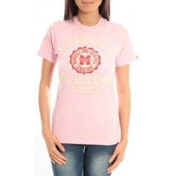 Abbigliamento Donna T-shirt maniche corte Sweet Company T-shirt Marshall Original M and Co 2346 Rose Rosa