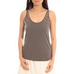 Abbigliamento Donna Top / T-shirt senza maniche Blune Débardeur Lendemain de fête LF-DF01E13 Gris Grigio