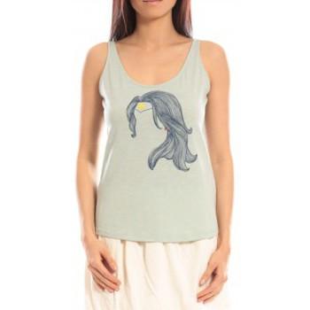 Abbigliamento Donna Top / T-shirt senza maniche Blune Débardeur Superpower SP-DF01E13 Vert Verde