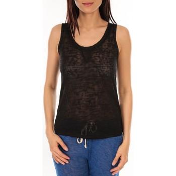 Abbigliamento Donna Top / T-shirt senza maniche By La Vitrine Débardeur BLV06 Noir Nero