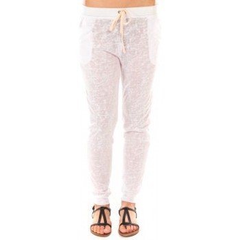 Abbigliamento Donna Pantaloni By La Vitrine Pantalon American Vitrine BLV02 Blanc Bianco