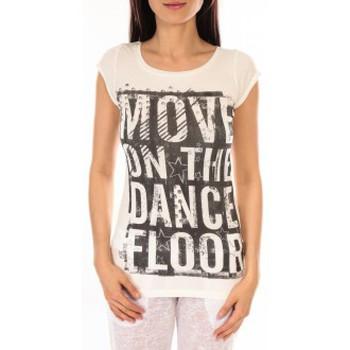 Abbigliamento Donna T-shirt maniche corte L'atelier Du Marais T-shirt Atelier du Marais DANCEFLOOR Blanc Bianco