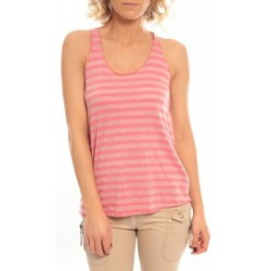 Abbigliamento Donna Top / T-shirt senza maniche So Charlotte Oversize tank Top Stripe T36-371-00 Rose Rosa