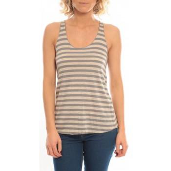 Abbigliamento Donna Top / T-shirt senza maniche So Charlotte Oversize tank Top Stripe T36-371-00 Gris Grigio