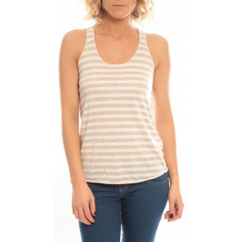 Abbigliamento Donna Top / T-shirt senza maniche So Charlotte Oversize tank Top Stripe T36-371-00 Blanc Bianco