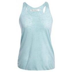 Abbigliamento Donna Top / T-shirt senza maniche So Charlotte Oversize tank Top Snake Burnout T53-371-00 Vert Verde