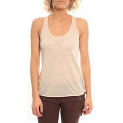 Abbigliamento Donna Top / T-shirt senza maniche So Charlotte Oversize tank Top Snake Burnout T53-371-00 Beige Beige