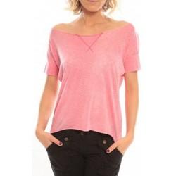 Abbigliamento Donna T-shirt maniche corte So Charlotte Tight short sleeves Tee all snake T53-406-00 Rose Rosa