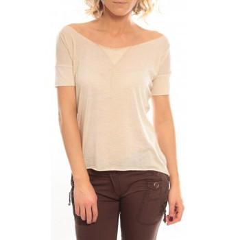 Abbigliamento Donna T-shirt maniche corte So Charlotte Tight short sleeves Tee all snake T53-406-00 Beige Beige