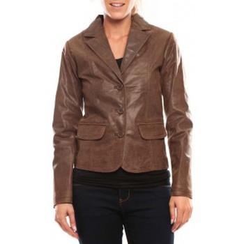 Abbigliamento Donna Giacca in cuoio / simil cuoio Comme Des Filles Comme des Garçons Veste Blazer Aurora Marrone