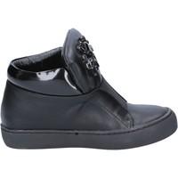 Scarpe Donna Stivaletti Sara Lopez scarpe donna  sneakers nero pelle BX704 Nero