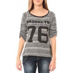 Abbigliamento Donna Maglioni De Fil En Aiguille Pull Brooklyn 76 Grigio