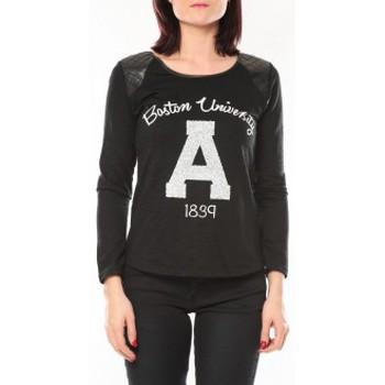 Abbigliamento Donna Maglioni De Fil En Aiguille Pull E1325 Noir Nero