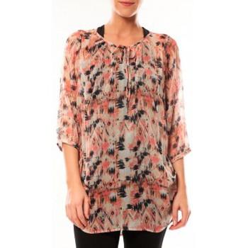 Abbigliamento Donna Tuniche Vero Moda Katty Lee 3/4 Tunic 10105918 Rose/Noir Rosa