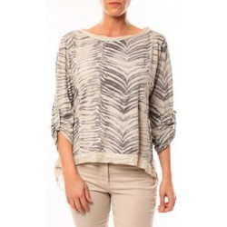 Abbigliamento Donna T-shirts a maniche lunghe By La Vitrine Tee shirt Zèbre Asso Gold Beige - Beige