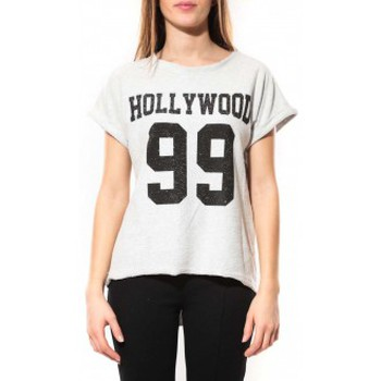 Abbigliamento Donna T-shirt maniche corte By La Vitrine Tee Shirt Hollywood 99 Blanc Bianco