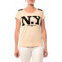 Abbigliamento Donna T-shirt maniche corte Dress Code T-Shirt Love Look NY 1660 Beige Beige
