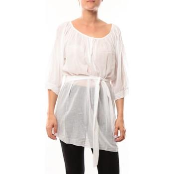 Abbigliamento Donna Tuniche De Fil En Aiguille Robe JL Blanc Bianco