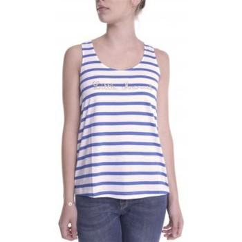 Abbigliamento Donna Top / T-shirt senza maniche Little Marcel Débardeur Domino E14IBF031 Blanc Bianco