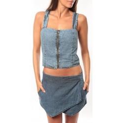 Abbigliamento Donna Top / T-shirt senza maniche Dress Code Bustier Saxx Bleu Blu