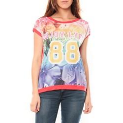 Abbigliamento Donna T-shirt maniche corte Tcqb T-shirt 88 Rouge Rosso