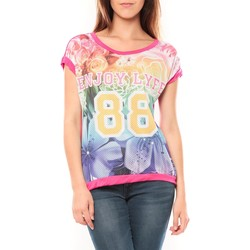 Abbigliamento Donna T-shirt maniche corte Tcqb T-shirt 88 Rose Rosa