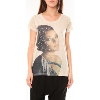Abbigliamento Donna T-shirt maniche corte Tcqb Tee shirt Y-0008 Beige Beige