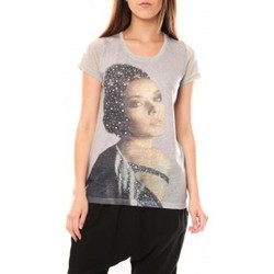 Abbigliamento Donna T-shirt maniche corte Tcqb Tee shirt Y-0008 Gris Grigio