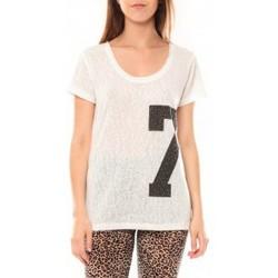 Abbigliamento Donna T-shirt maniche corte Tcqb Tee shirt SL1601 Blanc Bianco