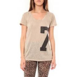 Abbigliamento Donna T-shirt maniche corte Tcqb Tee shirt SL1601 Beige Beige