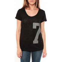 Abbigliamento Donna T-shirt maniche corte Tcqb Tee shirt SL1601 Noir Nero