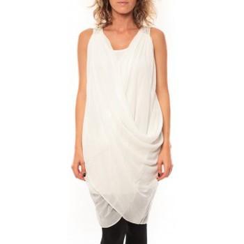 Abbigliamento Donna Vestiti By La Vitrine ROBE Blakie SL Short Dress  Blanc Bianco