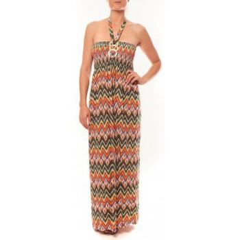 Abbigliamento Donna Abiti lunghi By La Vitrine Robe Sylvia F594 Orange Arancio