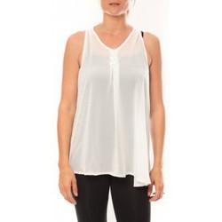 Abbigliamento Donna Top / T-shirt senza maniche De Fil En Aiguille Débardeur may&co 882 Blanc Bianco