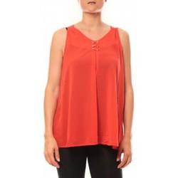 Abbigliamento Donna Top / T-shirt senza maniche De Fil En Aiguille Débardeur may&co 882 Rouge Rosso