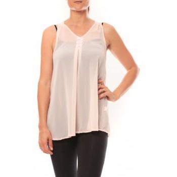 Abbigliamento Donna Top / T-shirt senza maniche De Fil En Aiguille Débardeur may&co 882 Beige Beige