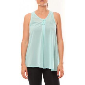 Abbigliamento Donna Top / T-shirt senza maniche De Fil En Aiguille Débardeur may&co 882 Turquoise Blu