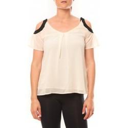 Abbigliamento Donna T-shirt maniche corte Comme Des Filles Comme des Garçons T-shirt Moni&Co 328 Beige Beige