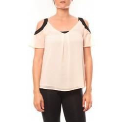 Abbigliamento Donna T-shirt maniche corte Comme Des Filles Comme des Garçons T-shirt Moni&Co 328 Rose Rosa