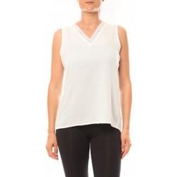 Abbigliamento Donna Top / T-shirt senza maniche De Fil En Aiguille Débardeur Voyelle L147 Blanc Bianco