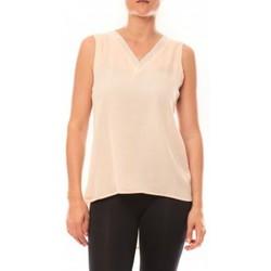 Abbigliamento Donna Top / T-shirt senza maniche De Fil En Aiguille Débardeur Voyelle L147 Rose Rosa