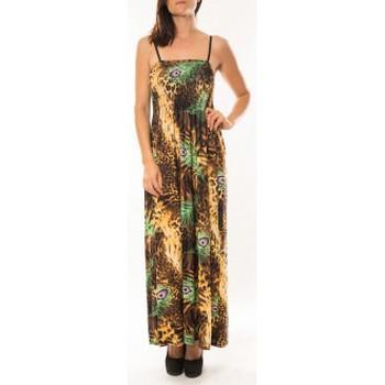 Abbigliamento Donna Vestiti By La Vitrine Robe Huamei F723 Vert Verde
