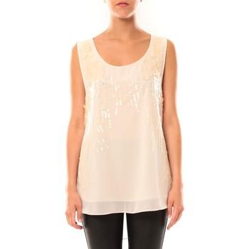 Abbigliamento Donna Top / T-shirt senza maniche De Fil En Aiguille Débardeur Victoria & Karl MX0660 Rose poudre Rosa